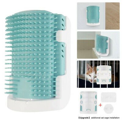 Cat Pet Self Wall Corner Groomer Scratching Brush Grooming Massage Comb Massager