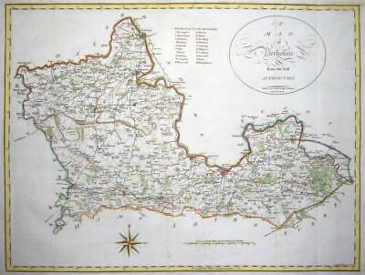 1805 Original Large Antique Map - BERKSHIRE by John Cary hand coloured (LM9)