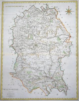 1805 Large Original Antique Map - WILTSHIRE by John Cary hand coloured (LM11)