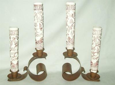 Arts & Crafts Craftsman Inc. Craftsman Studios Candle Holders Most Unusual!
