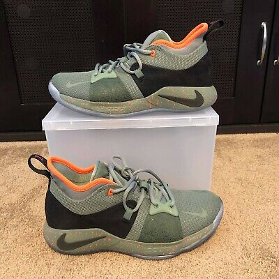 08689aee1a0736 NIKE PG 2 Palmdale All-Star Mens Size 8.5 Paul George Clay Green ...