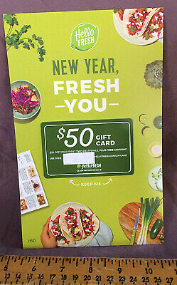 Hello Fresh Gift Card $50 off.