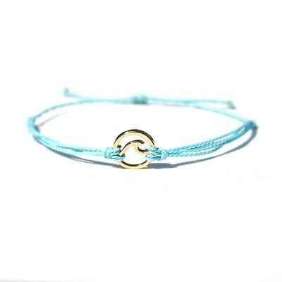 """Salty Storms Surferarmband """"mint/gold Wave"""""""