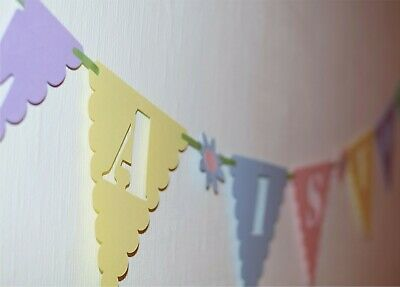 Personalised 1st Birthday Bunting Banner 2nd 3rd 4th 5th 6th 7th first GIRL age