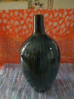 Large Blue Ceramic Vase