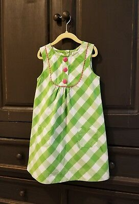 a13b7c677 CARTER'S DRESS EASTER Spring Green White Plaid Sleeveless Girls Sz ...