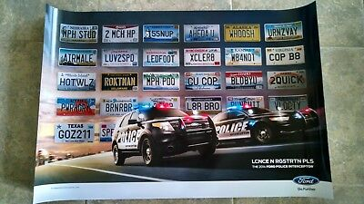 0448 FORD POLICE INTERCEPTOR Car Poster Photo Poster Print Art * All Sizes