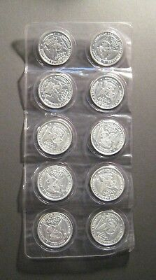 10 - 1 oz. APMEX Silver Rounds * .999 Fine Silver 10 pcs - * Sealed*