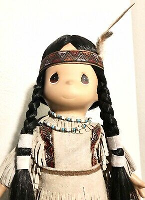 Precious Moments Doll Native American Indian Morning Star with Papoose -Vintage