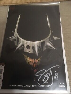 The Batman Who Laughs Issue #1 Greg Capullo Variant Comic Scott Snyder SIGNED
