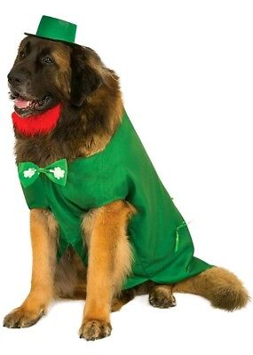 Leprechaun Big Dog Irish St. Patrick's Day  Halloween Pet Costume XXL LUCKY