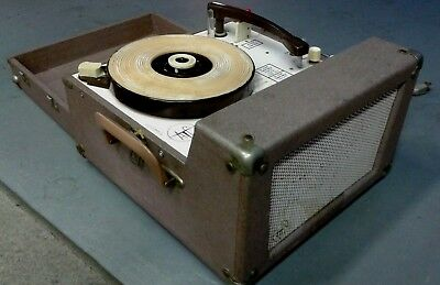 4 ☆ SPEED RECORD PLAYER TURNTABLE 300A  AUDIOTRONICS 1960s OLD SCHOOL