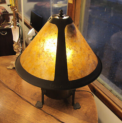 Antique Arts & Crafts Table Lamp with Mica Shade w6000 (Stickley era) *SALE* 10%