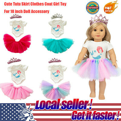 HOT Cute Tutu Skirt Clothes Coat Toy For 18 inch Doll Accessory Girls P2