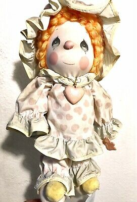 "1985 Precious Moments ""Peggy"" the Clown Doll with locket"