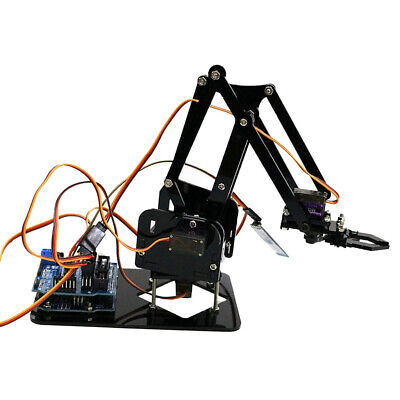 New Acrylic Mechanical Robot Arm Clamp Claw DIY Kit Manipulator for Robotics