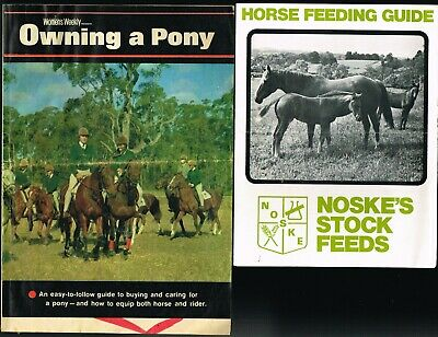 2 x VINTAGE 1970s Owning a Pony (W/Weekly liftout) + Noske's Horse Feeding Guide
