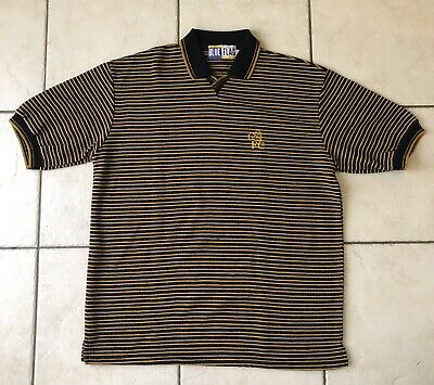 Comfy Vintage Striped Polo Hipster Size Medium