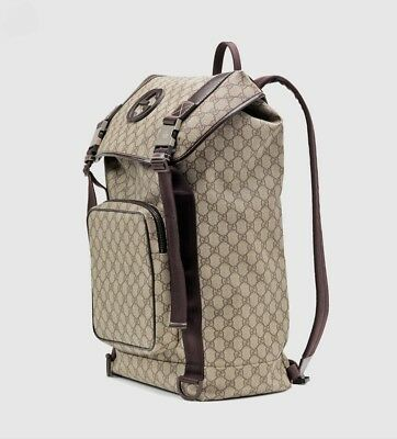 47412a3e8b52 GUCCI INTERLOCKING G Canvas Backpack Rare And 100% Authentic ...