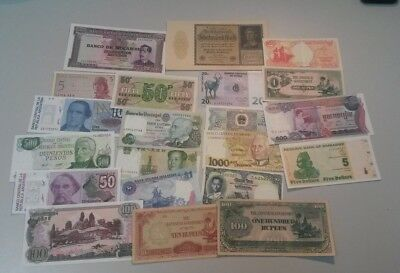 World Banknotes - Bulk Lot of 20 World Banknote Assortment of Notes: Set # 13