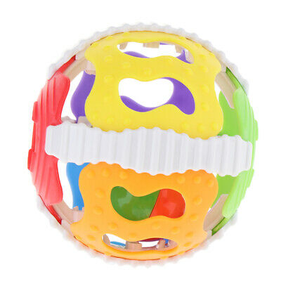 Colorful Baby Plastic Early Educational Toys Hand Shake Bell Ring Rattles
