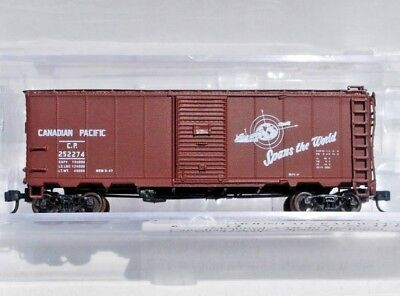 Intermountain N Scale Mod. AAR 40' Boxcar SSD. Canadian Pacific. Rd # 252274