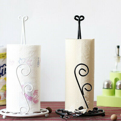 Freestanding Napkin Tissue Paper Towel Holder Roll Paper Rack