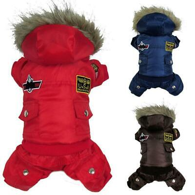 Pet Dog Winter Warm Coats Puppy Hoodie Jacket Costume Clothes Jumpsuit Warmer