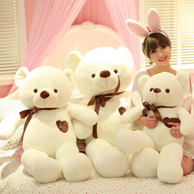60CM Cute Big Plush Stuffed Teddy Bear Huge Soft 100% Cotton Toy Xmas Gift US