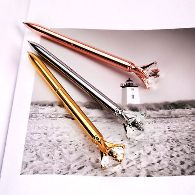 Bling Diamond On the Top Quality Scepter Metal Pens Crystal Ballpoint Pen Gift