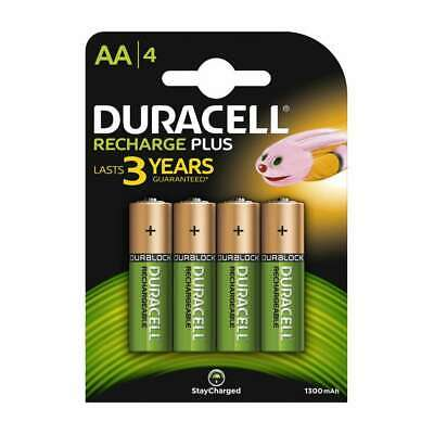 Duracell AA Rechargeable Batteries NiMH 1300mAh Stay Charge HR6 HR06