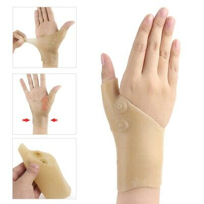 Healthcare Magnetic Therapy Wrist Silicone Glove Support Hand Pain Relief New
