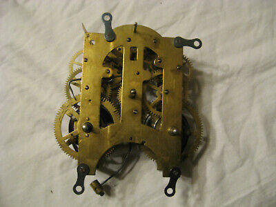 Antique Ansonia 8 Day Mantel Clock Movement With Pendulum Working Great