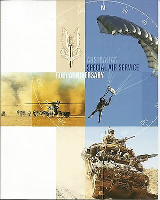 2007 AUSTRALIA SPECIAL AIR SERVICE  - 10 x 50c STAMPS IN FOLDER