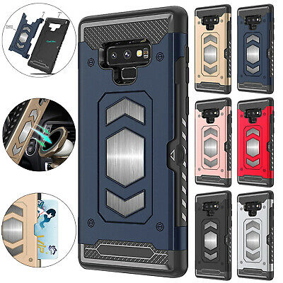 For Samsung Galaxy S10 Plus S10e S10 Case Card Slot Car Magnetic Rugged Cover