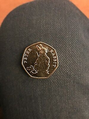 Peter Rabbit 50p 2018 UNCIRCULATED FROM SEALED BAG  BEATRIX POTTER RARE COIN