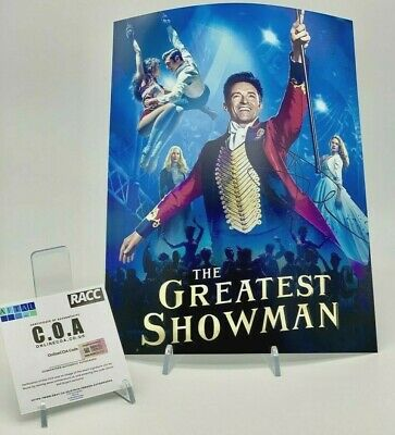 HUGH JACKMAN Signed 11x14 Photo THE GREATEST SHOWMAN AFTAL OnlineCOA