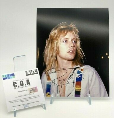 ROGER TAYLOR Signed 10x8 Photo QUEEN AFTAL OnlineCOA