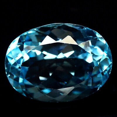 24.76 Ct Aaa! Natural! Sky Blue Brazilian Topaz Oval