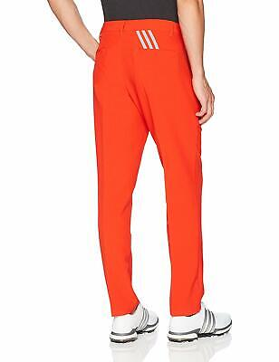 ADIDAS ULTIMATE 3 stripes GOLF mens PANTS BC7265 Flat front CORE RED $80