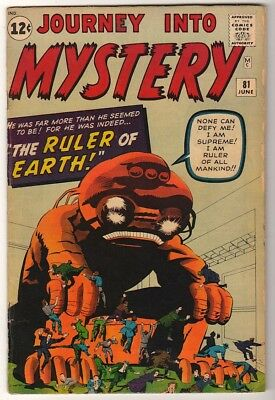 Marvel Comics FN PRE THOR #81 Journey into mystery  5.0 1963 silver age