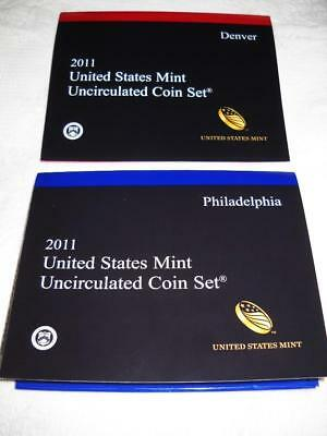 Us 2011-D & P Uncirculated Mint Coin Set 28 Coins In All