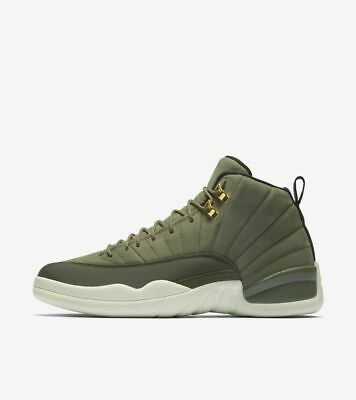 new concept 0c93f 6238a NIKE AIR JORDAN 12 XII Retro size 12. Olive Green Gold ...