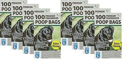 800 Doggy Bags Scented Extra Strong Dog Cat Poo Waste Toilet Pet Bag Fragranced