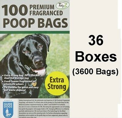 3600 Doggy Bags Scented Extra Strong Dog Cat Poo Waste Toilet Pet Bag Fragrance