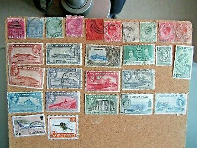 Mixed selection of stamps from Gibraltar