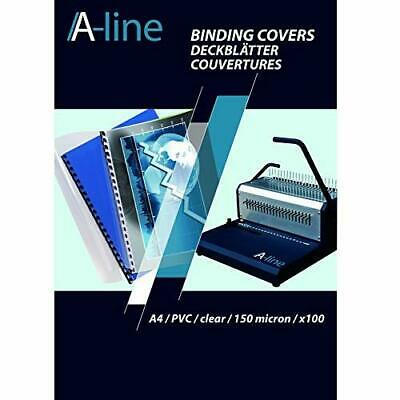 A-LINE A4 PVC Binding Cover - Clear/Transparent (Pack of 100)