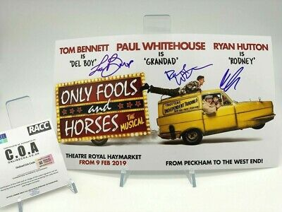 ONLY FOOLS & HORSES Signed 14x8 Photo MUSICAL CAST AFTAL OnlineCOA