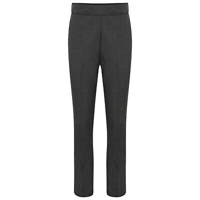 Girls School Trousers Black Grey Navy Slim Leg Adjustable Waist Uniform
