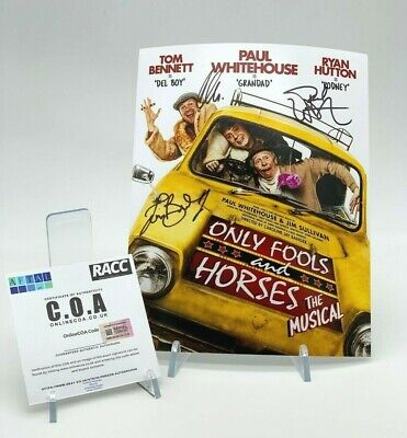 ONLY FOOLS & HORSES Signed 10x8 Photo MUSICAL CAST AFTAL OnlineCOA